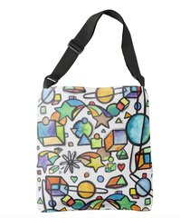 Cosmic Geometric Tote Bag
