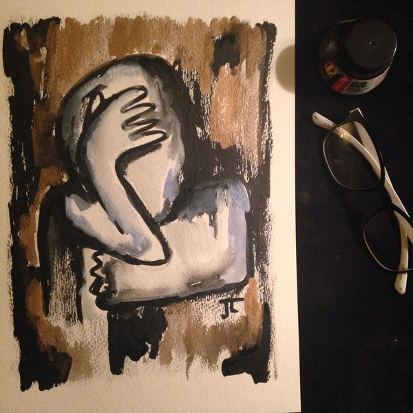"Figure 9x12"" watercolor original"