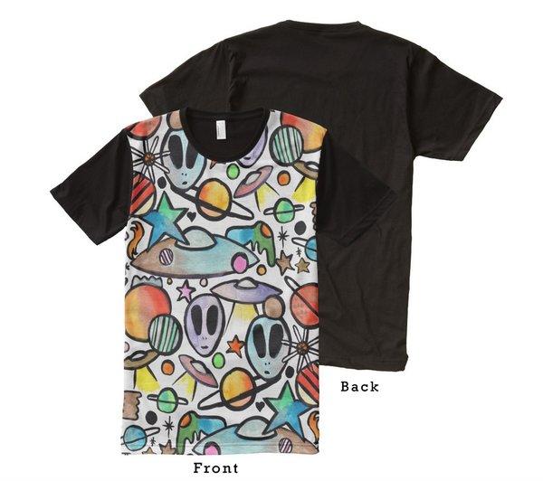 Alien Graffix Cosmic Shirt
