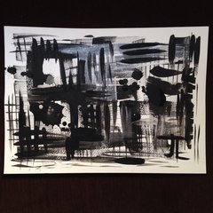 "Abstract monochrome iridescent 11x15"""