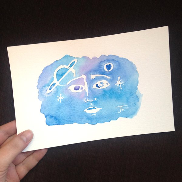 "Cosmic Watercolor Face Mini 6x9"""