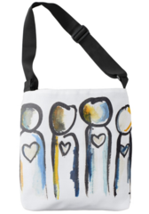 Heart People Tote Bag