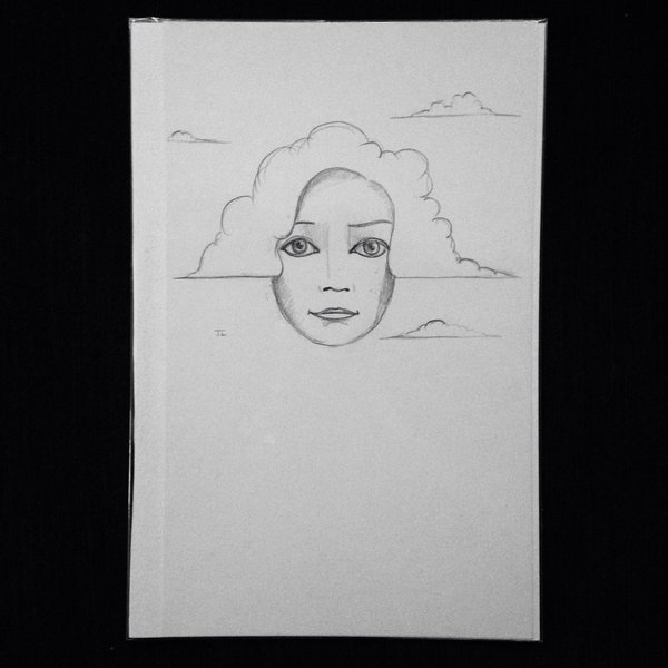 """Clouds 9x6"""" graphite drawing"""