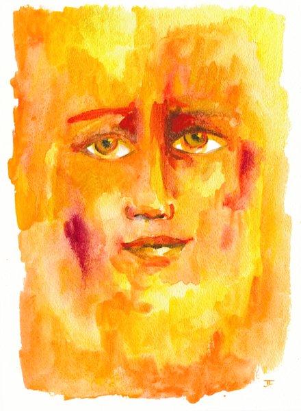 """Elemental 9x12"""" Original Watercolor"""