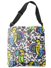 Space Budgies Tote Bag