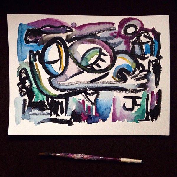 "SOLD Embraces 9x12"" original watercolor"