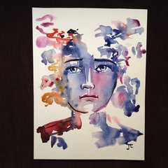 "9x12"" watercolor infinite face"