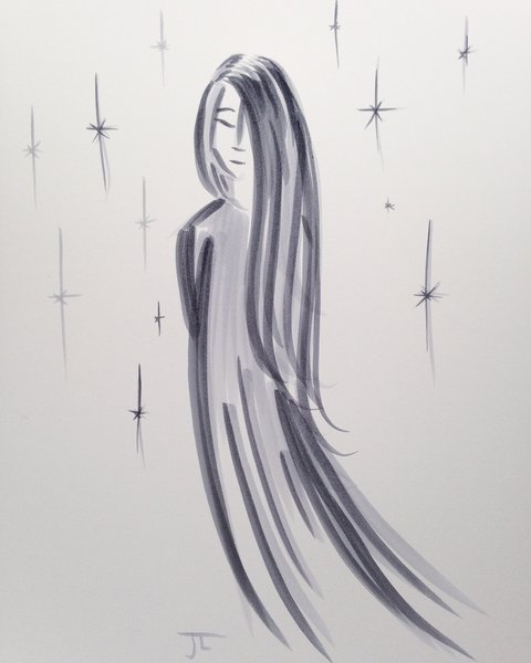 "9x12"" lady in gray"
