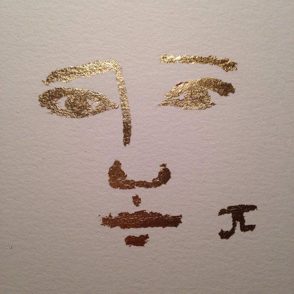 SOLD Golden girl mini original gold leaf