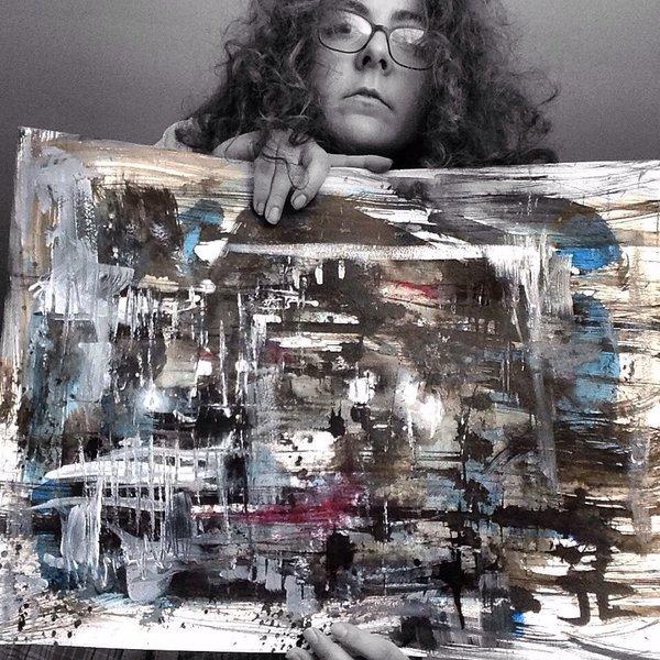 "Abstract #4 18x24"" original watercolor"