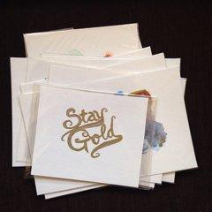 Stay gold original mini watercolor