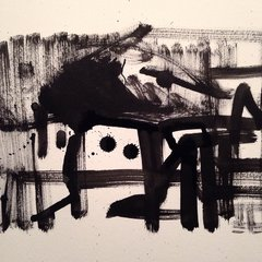 "Abstract 9x12"" India ink original"