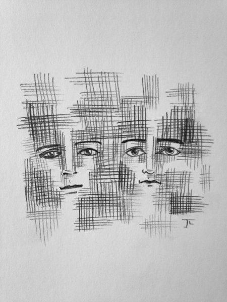 """Intertwined 6x9"""" Paper Original Graphite Drawing"""