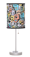 Peachy and Pastel Tone Graffix Lamp