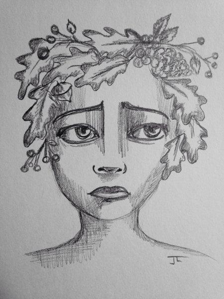 "Autumn 9x6"" graphite drawing"