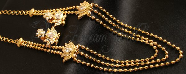 Multi layer ad necklace gold dreamjwell beautiful gold plated white lotus side pendant multi layer necklace set dj00099 mozeypictures Choice Image