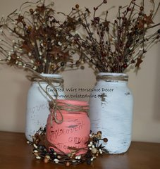 Painted Jars- Set Of 3