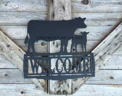 Cow Calf Welcome sign