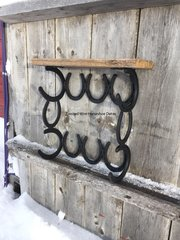 Barn board shelf Towel rack