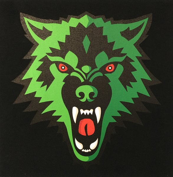 Black Green Wolf Tee 710 Kingpen