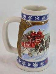 'Budweiser Holiday Stein 1995'