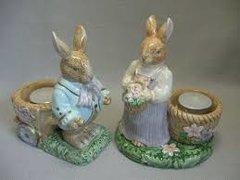 Avon Springtime Bunny Rabbit Tealight Holders