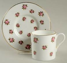"""""""Rosedale"""" Aynsley Teacup and Saucer Set"""