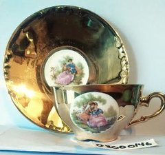 'Gold Victorian Teacup and Saucer' (#146)