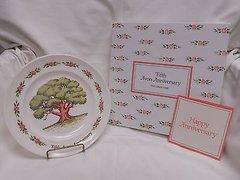''Avon Fifth Anniversary Plate' 'The Great Oak