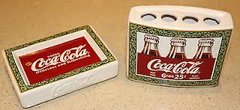 'Coca-Cola Toothbrush Holder and Soap Dish Set'