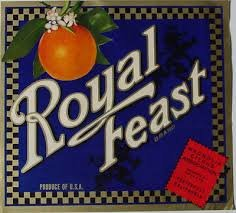 'Royal Feast' Brand Crate Label