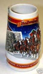 'Budweiser Holiday Stein 1999'