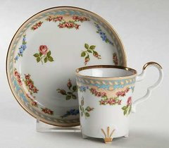 Footed Demitasse Tea Cup and Saucer