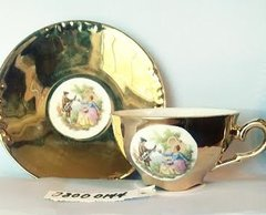 'Gold Victorian Teacup and Saucer' (#144)