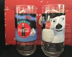 'COCA-COLA COKE 7 pc Polar Bear Glasses'
