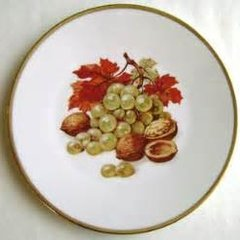 Vintage Arzberg Germany Plate 'Grapes'
