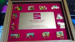 'The Twelve Years Of Christmas' Framed Pin Collection