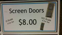 Screen Doors HO and O Scale