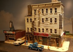 Cameron Street Apartments HO Scale Craftsman Kit