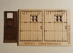 O Scale Rolling Plank Door (2)per set