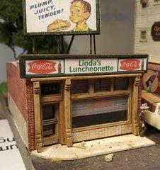 Linda's Luncheonette HO Scale