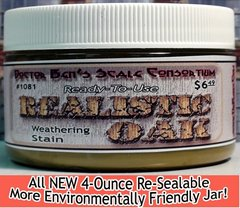 Realistic Oak Weathering Stain-4oz Doctor Ben's Scale Consortium
