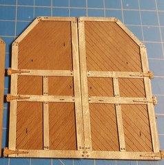 O Scale Engine House Doors Style 2