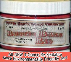 Rustic Barn Red Weathering Stain-4oz Doctor Ben's Scale Consortium