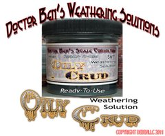Oily Crud Weathering Solution 4oz Doctor Ben's Scale Consortium