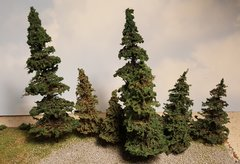 "4"" inch Fir / Pine Evergreen Style Trees - 5 trees per package"
