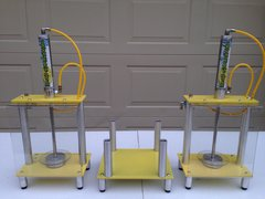 2 Dual Post Smashers With Sharkstooth Pucks and Wedger Stand