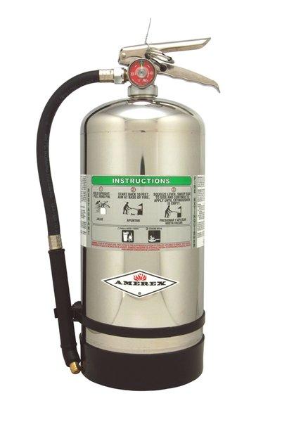 "amerex b260 wet chemical class ""k"" kitchen extinguishers - 6l"