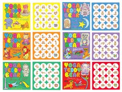 3+ Complete Sets of Yoga Teddy Bear Coloring Books + Stickers