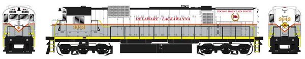Bowser HO Scale Delaware-Lackawanna M636 DCC W/Loksound & Ditchlights